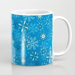 Snow Flurries in Blue Coffee Mug