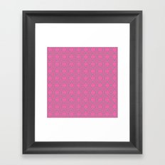 Dragonfruit Pink Circles Framed Art Print
