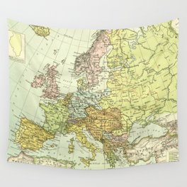 Vintage Map of Europe (1918) Wall Tapestry