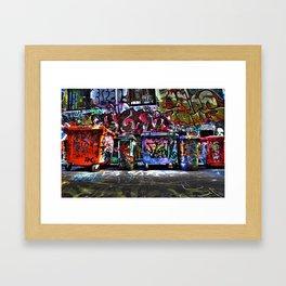 Hoiser Lane, Melbourne Framed Art Print