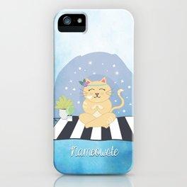 Nameowste Yoga Cat iPhone Case