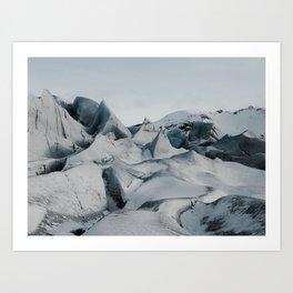 Crevasse-ing Art Print