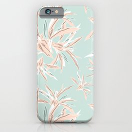 Hawaii style botanical leaves collection in pastel iPhone Case