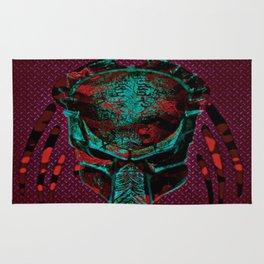 Soldier Predator Red Teal Rug
