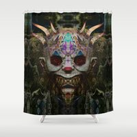 mad Shower Curtains featuring Mad Clown by Zandonai