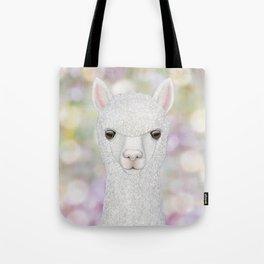 Alpaca farm animal portrait Tote Bag
