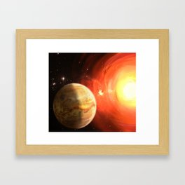 Planet Venus Framed Art Print