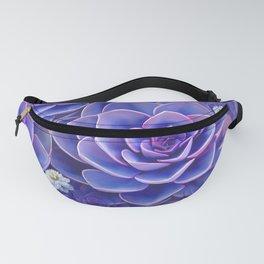 """""""Bouquet of pastel violet exotic succulents"""" Fanny Pack"""