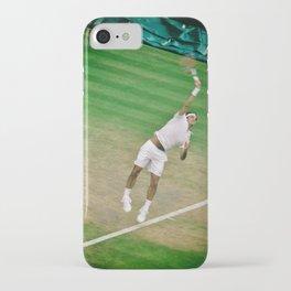 Roger Federer Tennis Wimbledon Centre Court Serve iPhone Case