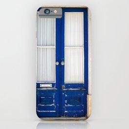 Door Ericeira Portugal blue iPhone Case