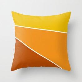 Diagonal Color Blocks in Yellow and Orange Throw Pillow