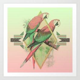 PARROT GARDEN Art Print
