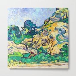 Van Gogh The Alpilles Metal Print