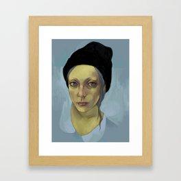 Black Hat Framed Art Print