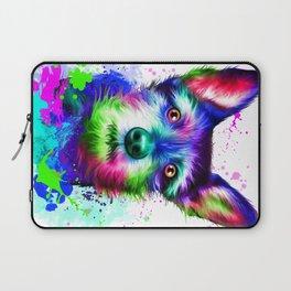 Terrier digital art Laptop Sleeve