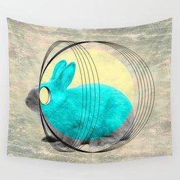 hypnotic rabbit Wall Tapestry