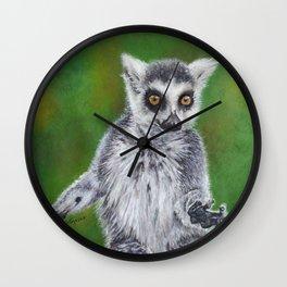 Maky - Ring Tailed Lemur Wall Clock