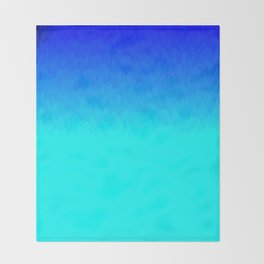 Electric Blue Ombre flames / Light Blue to Dark Blue Throw Blanket
