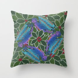 Dragondala Winter Throw Pillow