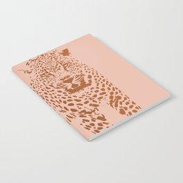 Sunset Blvd Leopard - blush pink and coral original print by Kristen Baker Notebook