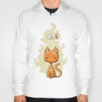 ginger Hoodies featuring Ginger Cat by Freeminds