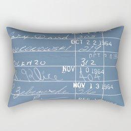 Library Card 23322 Negative Blue Rectangular Pillow