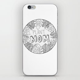 Plant Mom iPhone Skin