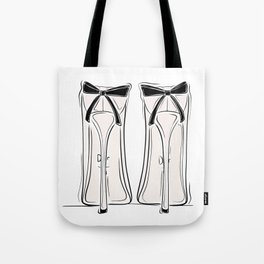 Ribbon Heels Tote Bag