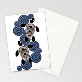 Aboriginal Art - Sea Turtles 2 Stationery Cards