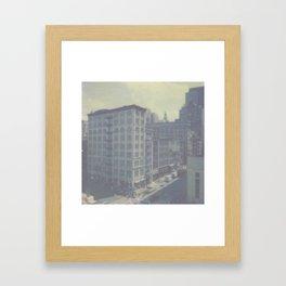 New York City in Blue III Framed Art Print