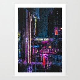 Midnight at Tiffany Art Print