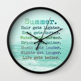 SUMMER by Monika Strigel Wall Clock