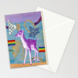 rainbow deer 2 Stationery Cards