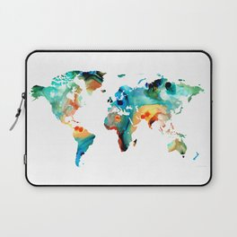 Map of The World 11 -Colorful Abstract Art Laptop Sleeve