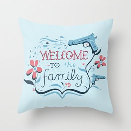 Welcome to the Family Throw Pillow