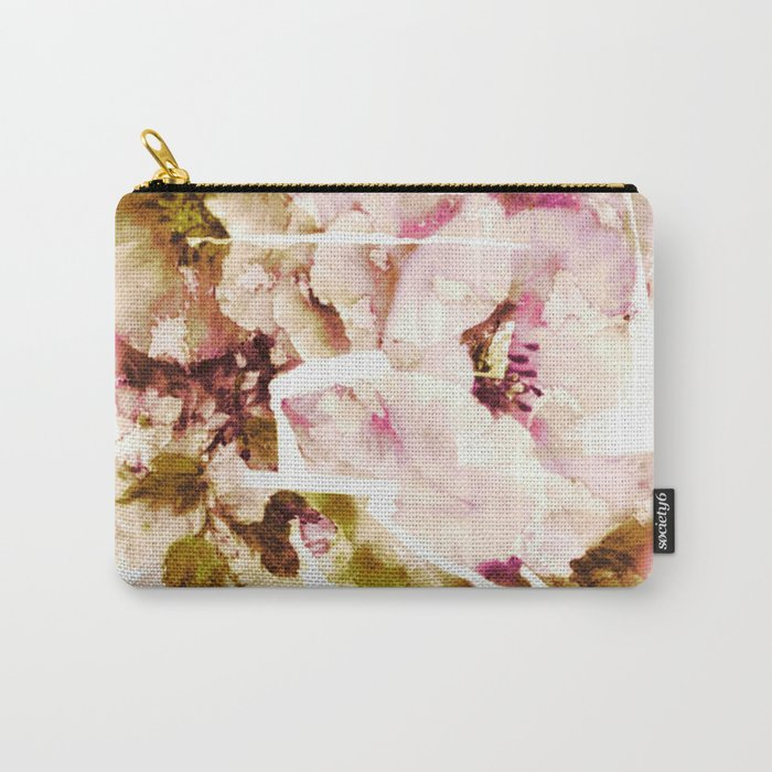 slashed floral Carry-All Pouch