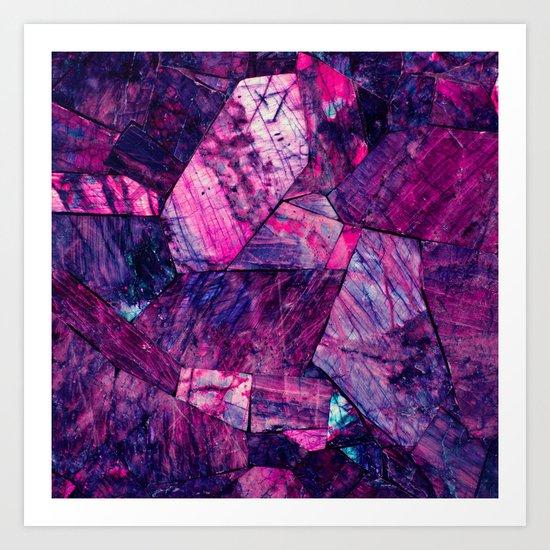Labradorite Purple Art Print