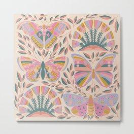 Colorful Butterflies – Art Print Metal Print