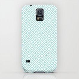 Tiffany Blue Greek Key Pattern iPhone Case