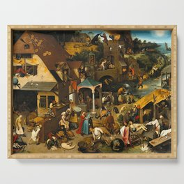 Pieter Bruegel the Elder Netherlandish Proverbs Painting Serving Tray