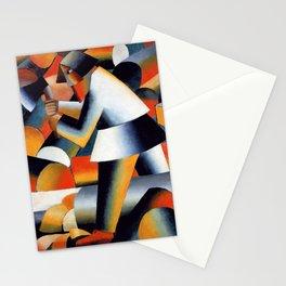 Woodcutter - Kazimir Malevich Stationery Cards