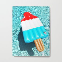 Bomb Pop Float all up in my Pool Metal Print