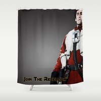 poe Shower Curtains featuring Poe by KL Design Solutions