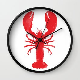 Watercolor Lobster Wall Clock
