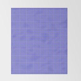 Blue Gingham Throw Blanket