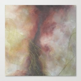 Golden Galaxy Tile Canvas Print