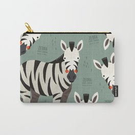 Zebra, African Wildlife Carry-All Pouch