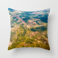 Land from the sky Throw Pillow