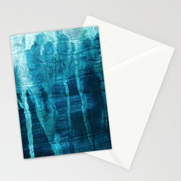 Blue Drips Stationery Cards