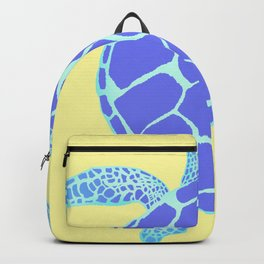 Beach Yellow Turtle Backpack
